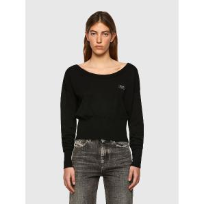 DIESEL M-COLORADO Silk-blend pullover with fitted hem A04675