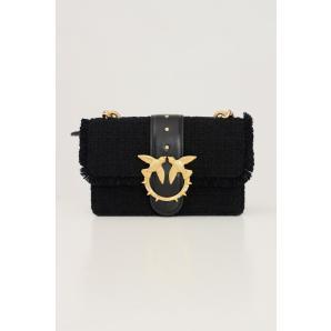 PINKO Black women's bag by pinko, braid model with shoulder strap 1P22CV