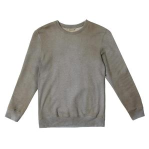 THE PROJECT GARMENTS Acid Dye Organic Cotton Crew Neck Sweatshirt Melange Grey PGBA15SW215REDCO