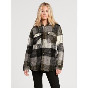 VOLCOM SILENT SHERPA OVER-SHIRT - ARMY GREEN COMBO