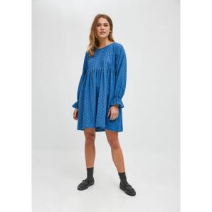 Compañía Fantástica BLUE BRODERIE MINI BABYDOLL DRESS