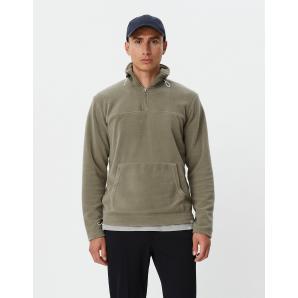 LES DEUX Bond Fleece Halfzip Sweatshirt