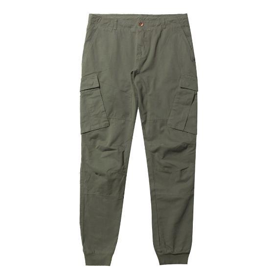 Cargo Cotton Pants Khaki The Project Garments-1