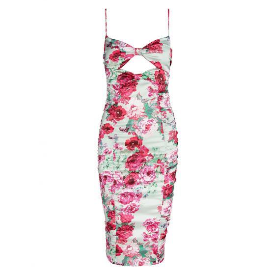 FOR LOVE & LEMONS Midi Floral Dress-0