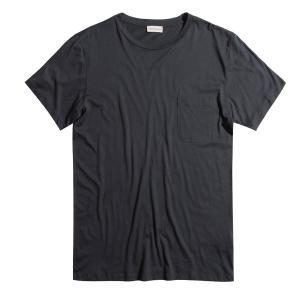 Crew Neck Modal-Blend Pocket T-shirt White The Project Garments