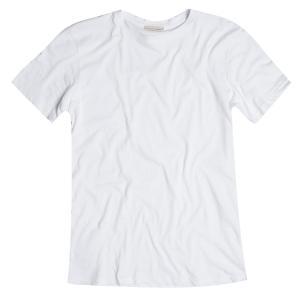 The project garments crew neck supima cotton t-shirt white PGBA1TS140SCO