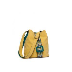 Michael Kors logo embroidered shoulder bag
