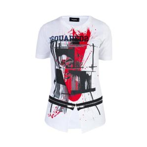 DSQUARED2 T-SHIRT WITH ZIPPERS S72GC0952