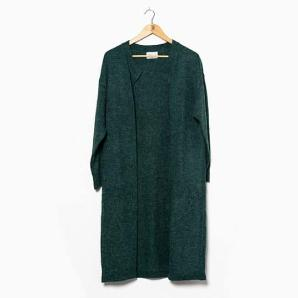 Compania fantastica dark forest green long cardigan FA19CHU12