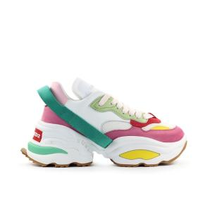 Dsquared2 The Giant white pink green sneaker