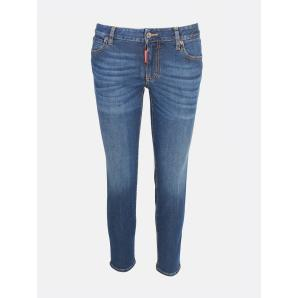 DSQUARED2 MEDIUM WAIST CROPPED TWIGGY JEAN S75LB0214