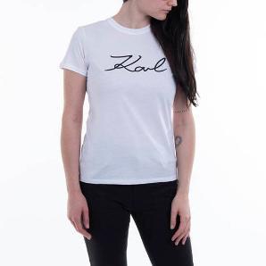 KARL LAGERFELD logo rhinestone t-shirt 206W1707