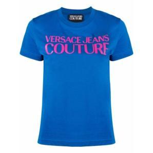 VERSACE JEANS logo-print cotton T-shirt 71HAHF00