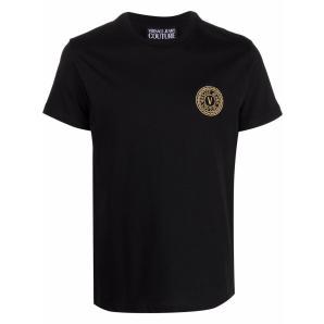 VERSACE JEANS V-Emblem cotton T-shirt 71GAHT10