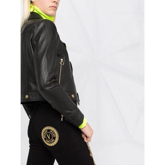 VERSACE black skinny jeans A1HWA0J5-4