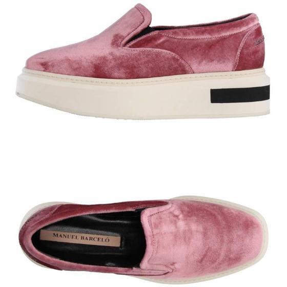 Manuel barcelo oxford low velvet pink sneakers-0