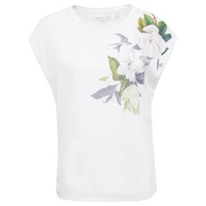Ted baker sellie opal printed woven front tee 159076