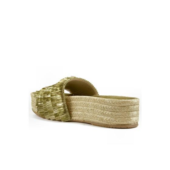 Paloma barcelo  pascale cord rafia green -1