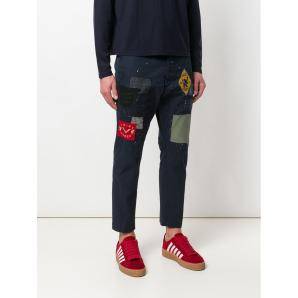 DSQUARED2 patchwork cropped trousers  S74KB0193