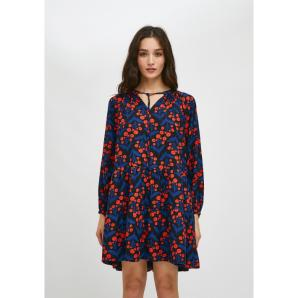 Compañía Fantástica  FLORAL POPPY PRINT MINI SMOCK DRESS WITH TIERS