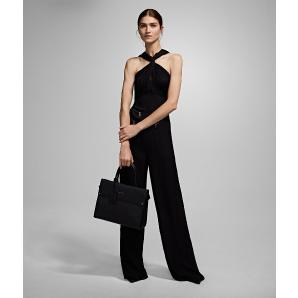 Karl Lagerfeld twisted neck jumpsuit 96KW1307