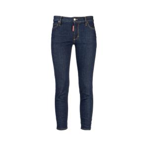 DSQUARED2 MEDIUM WAIST CROPPED TWIGGY JEAN S75LB0212