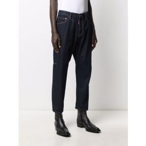 DSQUARED2 Jeans DARK BLUE COTTON-BLEND JEANS