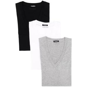 DSQUARED2 BASIC V-NECK T-SHIRT SET D9X3D2400