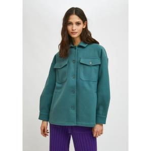 Compañía Fantástica GREEN OVERSHIRT JACKET WITH DROPPED SHOULDERS AND POCKETS