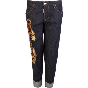 Dsquared2 tiger embroidered jeans S72LB0307