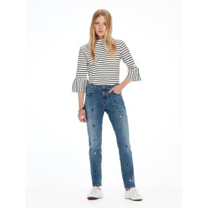 SCOTCH & SODA Petit Ami - Blauw  Slim boyfriend fit 144545