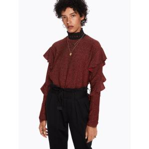 SCOTCH & SODA Lurex Ruffle Top 146419