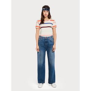 SCOTCH & SODA Rainbow Striped T-Shirt 147771