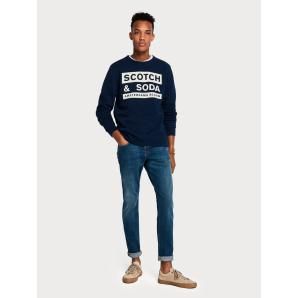 SCOTCH & SODA Ralston - Blauw Touch  Regular slim fit 133360