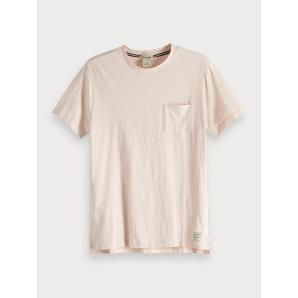 SCOTCH & SODA Stretch Linen T-Shirt 149010