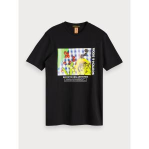 SCOTCH & SODA Cotton Photo Print T-Shirt 152311
