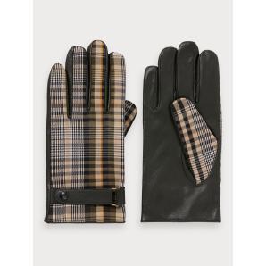 SCOTCH & SODA Patterned Leather Gloves 152960