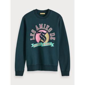 SCOTCH & SODA Crew Neck Artwork Sweater 152240