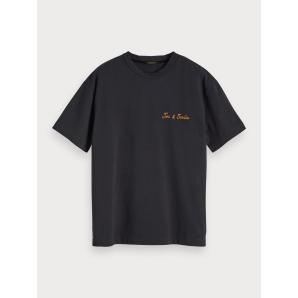 SCOTCH & SODA Embroidered Crew Neck T-Shirt 152292