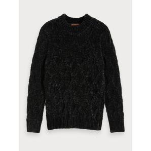 SCOCTH & SODA Cable Knit Chenille Sweater 152381