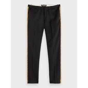 SCOTCH & SODA Faux Snakeskin Side Stripe Trousers 154242