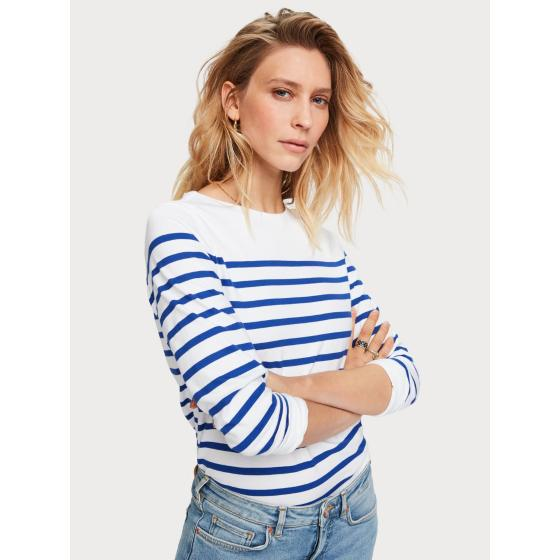 Scotch & soda classic breton stripe t-shirt 155887-1