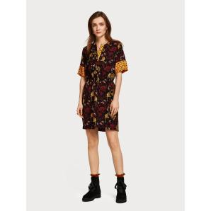 SCOTCH & SODA Silky Mixed Print Dress 149839
