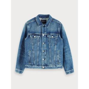 Scotch & soda denim trucker jacket - blauw cure 154120