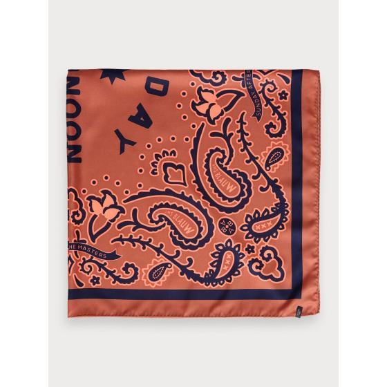 Scotch & soda oversized bandana scarf 154372-1