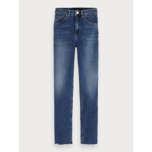 Scotch & soda haut cropped - blue treasure  high rise skinny fit 153715