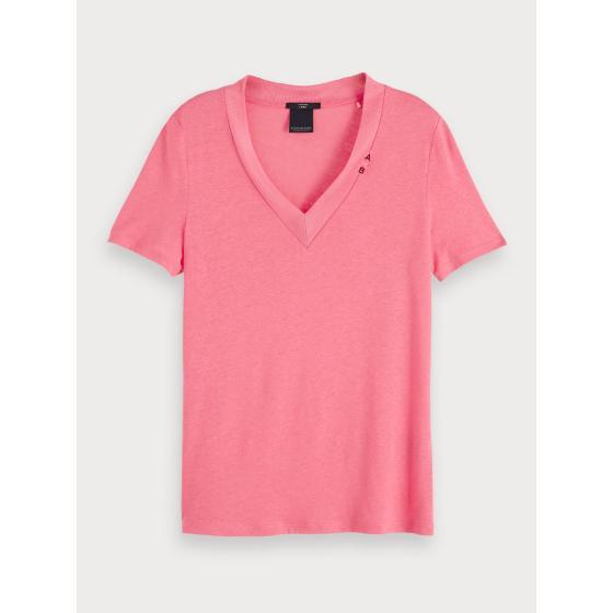 Scotch & soda basic v-neck t-shirt 153815-0