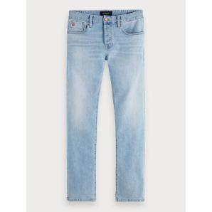 Scotch & soda ralston - paint it blauw  regular slim fit 154335