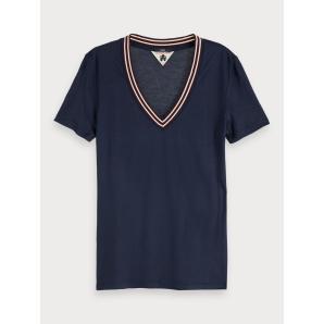 Scotch & soda short sleeved v-neck t-shirt 153804