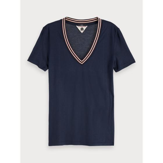 Scotch & soda short sleeved v-neck t-shirt 153804-0